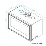 Recuperador Kristal 88 Plus, Recuperadores de calor, recuperadores chama, recuperador a lenha