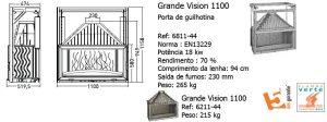 Recuperador Grande Vision, 110, grande vision 900, Invicta, Recuperadores, Recuperador, Recuperadores de Calor a Lenha