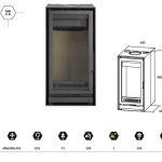 Recuperador vertical, recuperadores adf, recuperadores de calor, recuperador a lenha