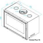 Recuperador Kristal 78 plus, recuperadores de calor, recuperadores a lenha