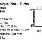 Recuperadores Panoramique Turbo, panoramique 700, Recuperador Lenha