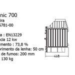 Recuperadores Selenic, Selenic 700, invicta, recuperadores a lenha