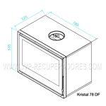 Recuperador Kristal 78 Dupla Face, Recuperadores de calor a lenha, Recuperadores Chama